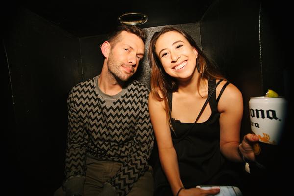 Sean Majors and Q Nightclubs Community Manager Jade Gains enjoying the Bob Moses set at Neumos.