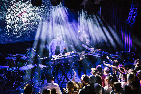 Bob Moses plays to a super packed Neumos.