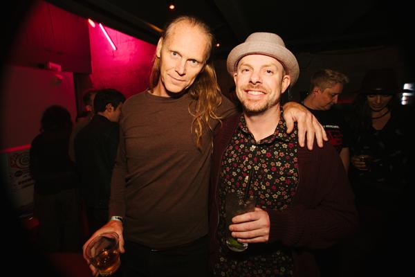 Decibel performer Michael Manahan and festival founder Sean Horton aka Nordic Soul celebrate Hortons 40th birthday on Friday.
