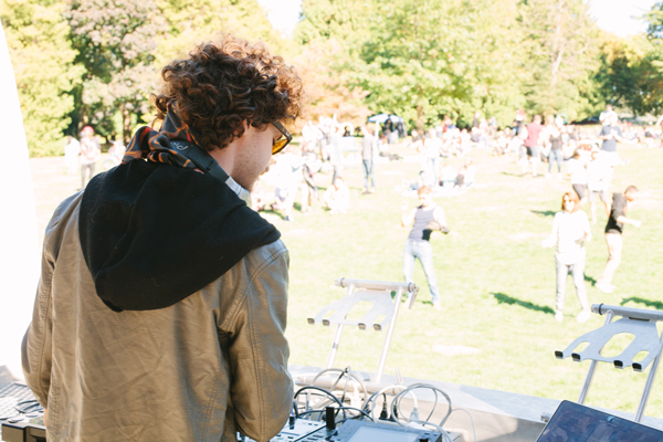 Justin Jay plays a set as lovely as the weather during the dB in the Park showcase on Sunday.