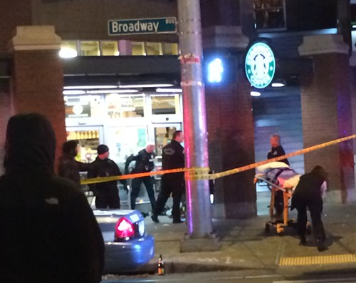 At approximately 1 a.m. on Sunday morning, officers responded to shots fired at the intersection of Broadway and Pike.