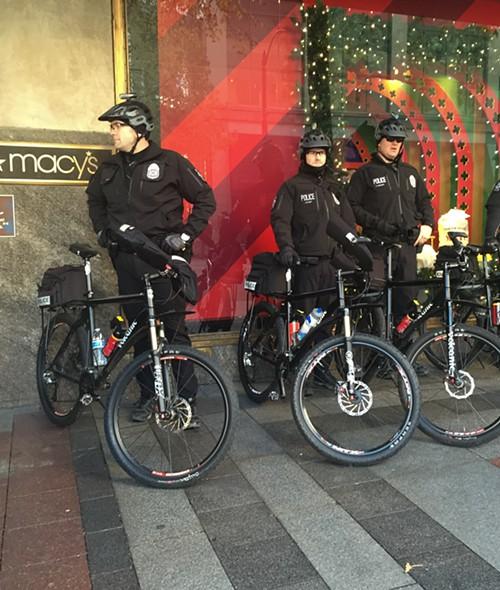 Police outside Macys.