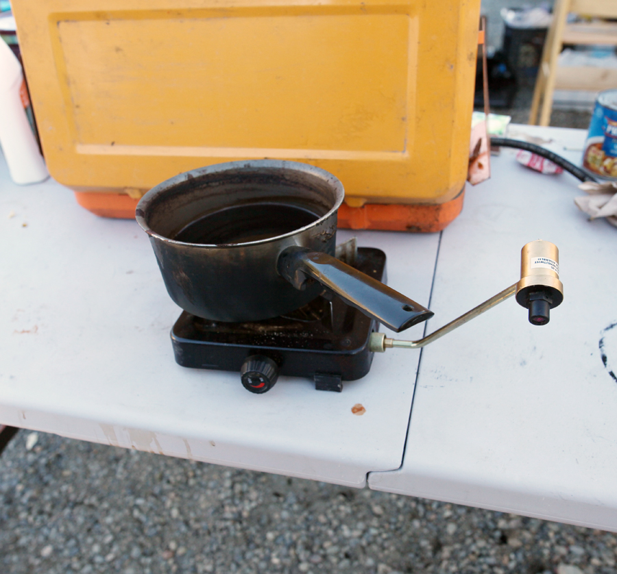 This was one of the temporary cookstoves. Mainly for coffee and hot water. Gotta have those in the morning when we can.