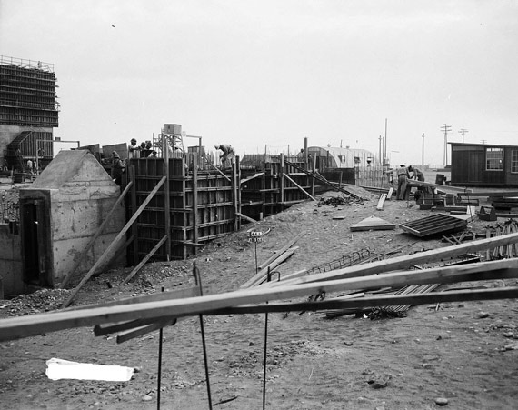 Taken in 1944, this photo depicts the construction of T Plant, the world's first large-scale plutonium separation facility. The plutonium processed here was used in the bomb dropped on Nagasaki.