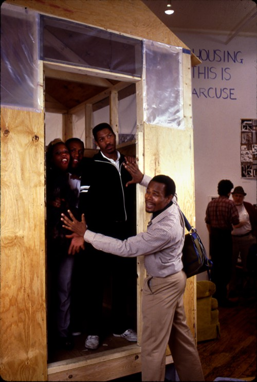 Activists from the group Homeward Bound, which included people directly affected by the housing crisis in New York, used Roslers 1989 exhibition as an office space.