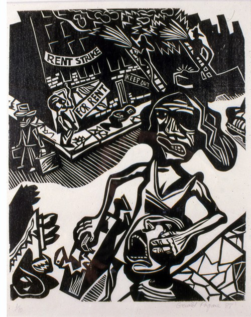 Gerald Pagane, Rent Strike, one of the original works Rosler borrowed in 1989 for If You Lived Here....