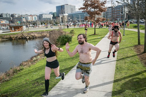 All running styles were accepted but organizers asked for no pasties or thongs