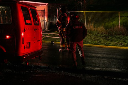 A Chaplain with the Seattle Fire Department arrives on the scene of a deadly fire in Beacon Hill