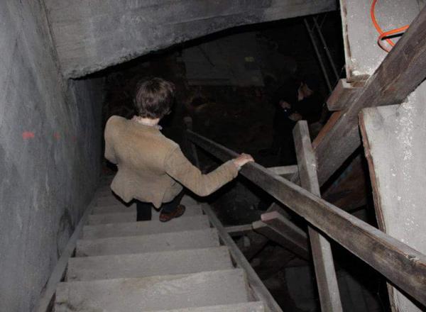 Sarah Galvin descends into its basement.